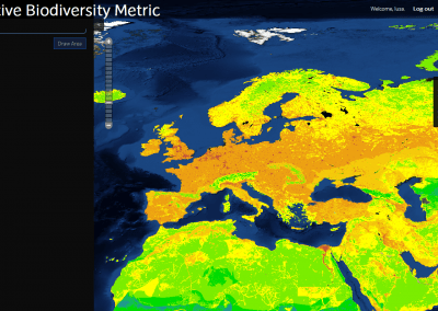 Normative Biodiversity Metric map available