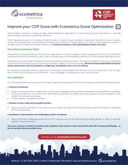 Improve your CDP Score with Ecometrica Score Optimization